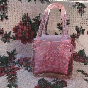 Pink Glass Purse